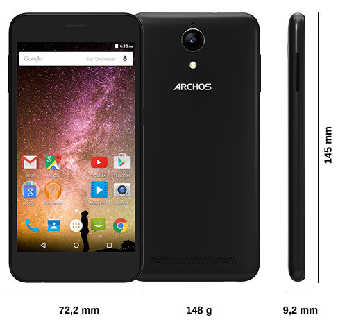 archos 50 power smartphones tech specs. Black Bedroom Furniture Sets. Home Design Ideas