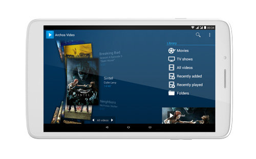 ARCHOS 80b Helium - ARCHOS Media apps