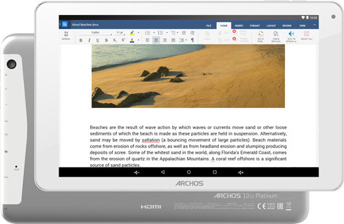 ARCHOS 101c Platinum - pc