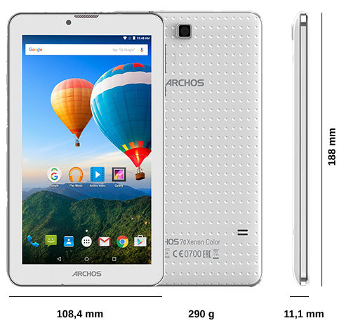 ARCHOS 70 Xenon Color - Specs