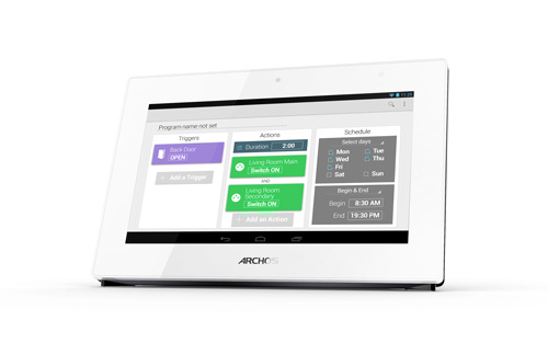ARCHOS Smart Home - Easy-to-use scenarios editor